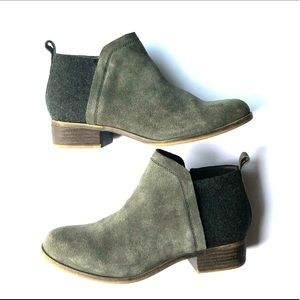 Toms Deia Olive Green Bootie
